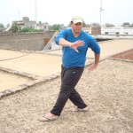 Practicing Bagua on Pujab rooftop